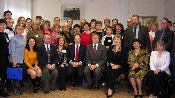 Встреча спослом США вРоссии Александром Виршбоу иген.консулом США вРоссии Скоттом Роландом.